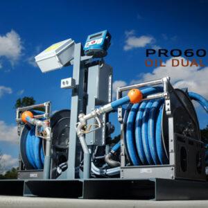 Bulk high flow oil transfer skid systems