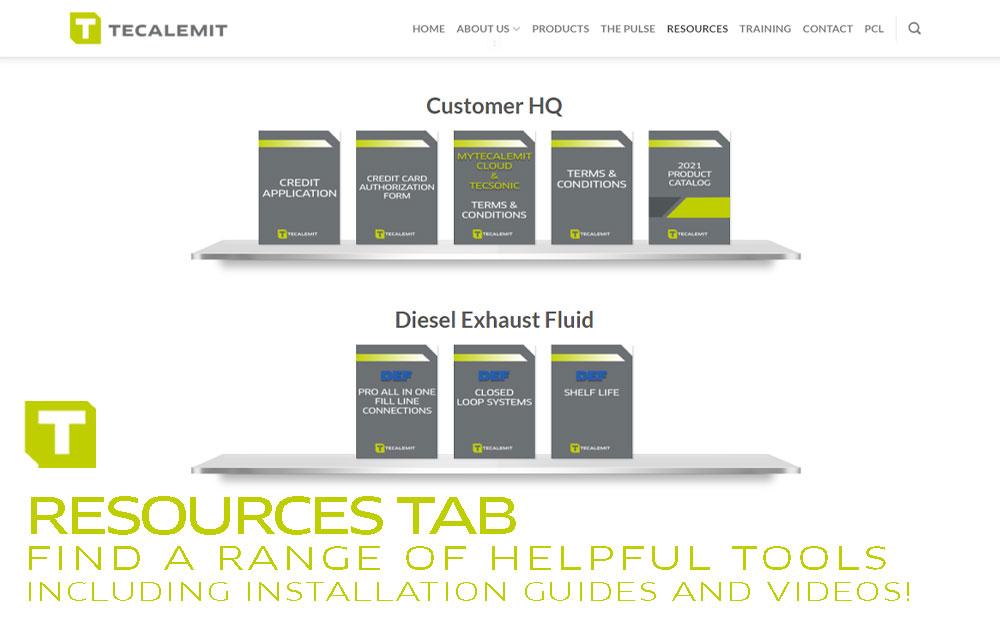 TECALEMIT's Resources Tab